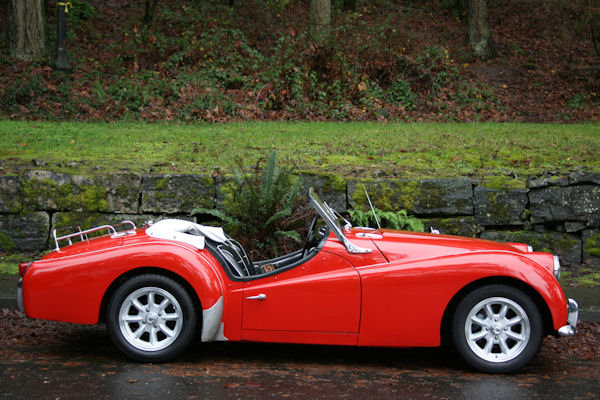 1961 triumph tr3 overdrive alloy wheels
