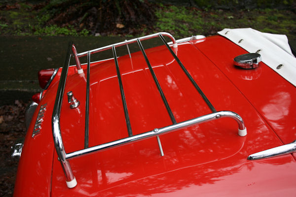 1961 triumph tr3 overdrive removable luggage rack