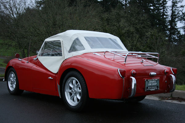 1961 triumph tr3 overdrive convertible top