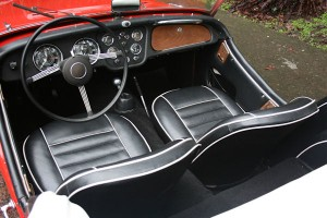 1961 triumph tr3 overdrive perfect leather seats