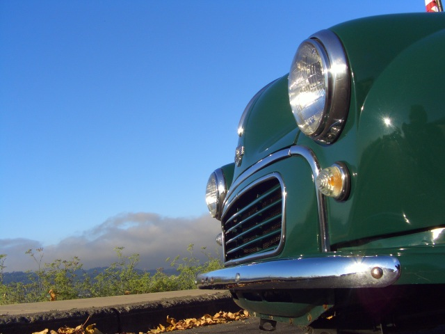 1960 morris minor 1000 pickup front chrome bumper