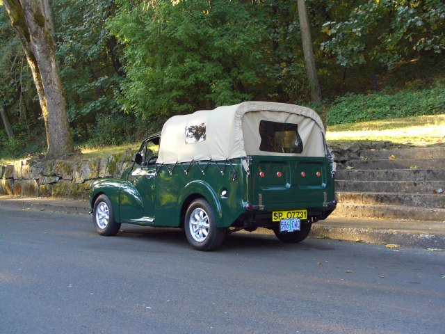 1960 morris minor 1000 pickup rear side view