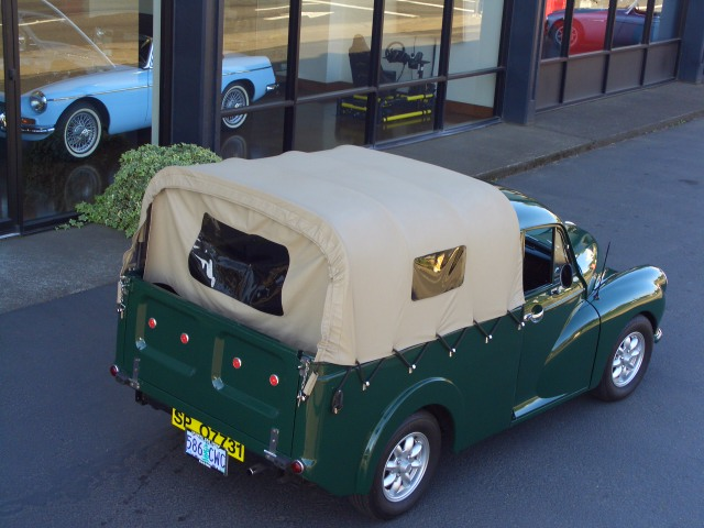 1960 morris minor 1000 pickup soft canopy