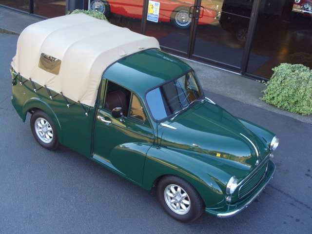 1960 morris minor 1000 pickup rare soft canopy