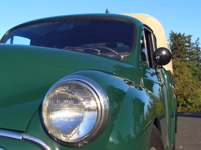 1960 morris minor 1000 pickup fantastic forest green