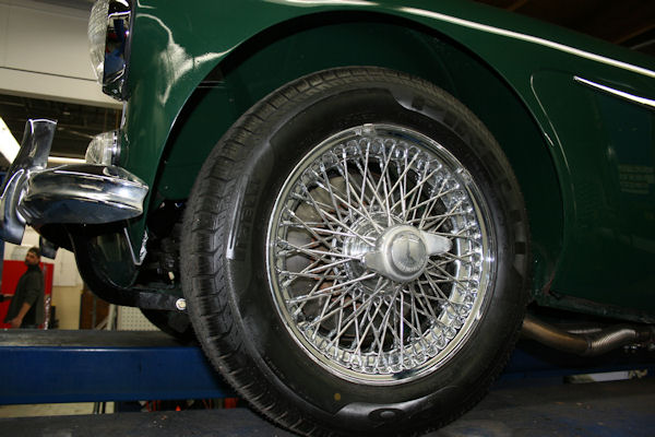 1964 austin healey mk iii 3000 bj8 new wire wheels
