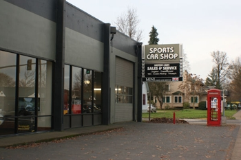 Sports Car Shop Service Bay for British and German Cars in Eugene, Oregon
