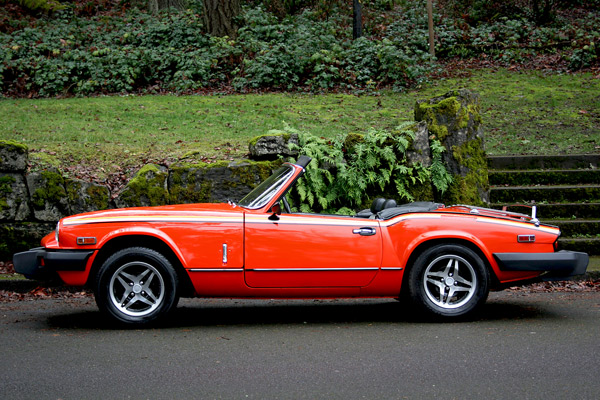 1979 triumph spitfire sports car shop