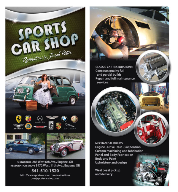 SPORTS CAR SHOP_RackCard_sampleOLIVE