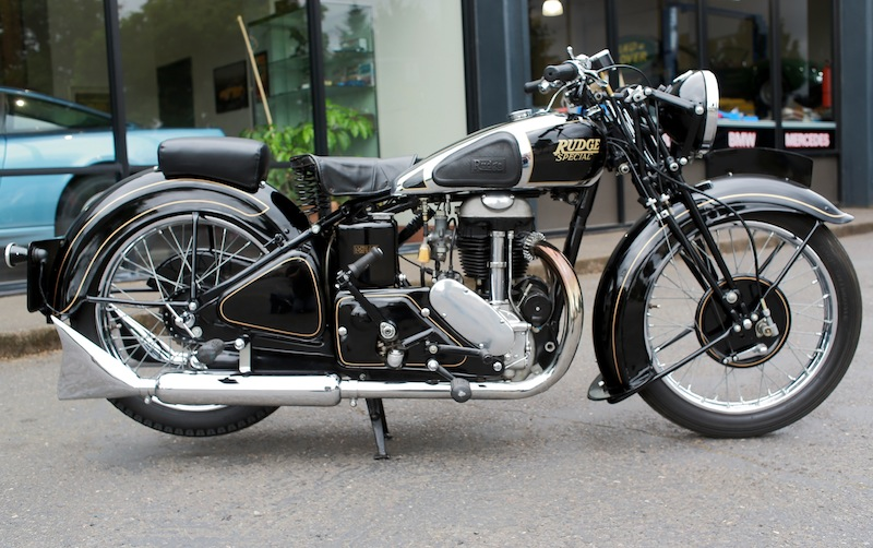 1938 Rudge Special 500cc Motorcycle Sports Car Shop